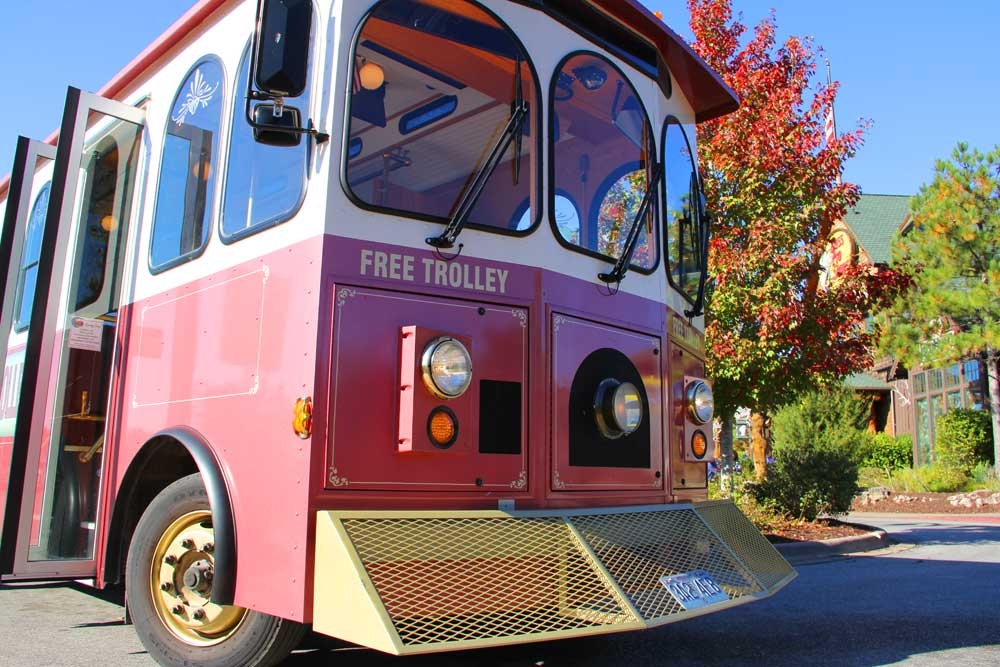 Sparky the Downtown Branson Trolley