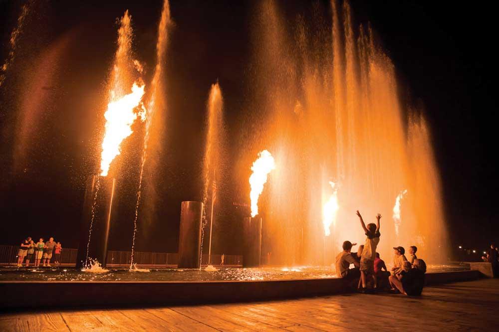 Branson Landing Fountains
