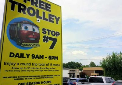 Exploring Trolley Stop #7: Awberry Parking Lot