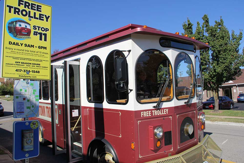Ride Sparky Trolley Stop #11