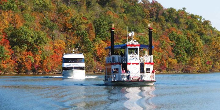 See Amazing Fall Foliage in Downtown Branson and Along Lake Taneycomo