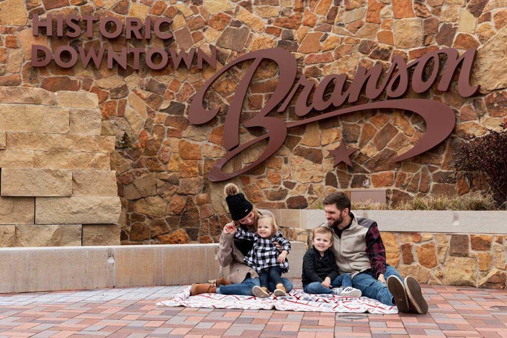 Family picnicking at Liberty Plaza